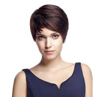 Buy cheap Wig Rebecca Human Hair Short Straight Boy Cut Wig 9 Inch from wholesalers