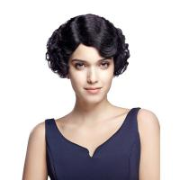 Buy cheap Wig Rebecca Short Wavy Remy Human Hair Curly Bob Retro Wave 9 Inch Wig from wholesalers