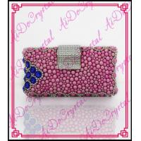 China Aidocrystal 2016 new style handmade fuchsia color crystal rhinestones women clutch bag for party wholesale
