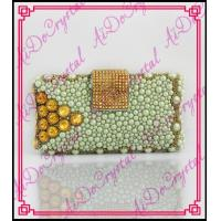 China Aidocrystal Handmade white pearl and gold crystal bead bags beaded clutch bag wholesale