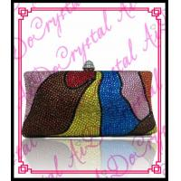 China Aidocrystal trendy colorful beaded clutch bag irregular patterns evening purses and handbags 2016 wholesale