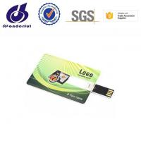 China Print LOGO 1gb 32gb Business Credit Card Usb Memory Stick Flash Drive on sale