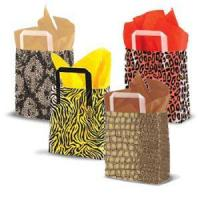 China Frosted Animal Print Shoppers with Tri Fold Handles wholesale