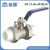 China Ball Valve PPR Double Union Ball Valve Copper Core&Body for Building Materials on sale