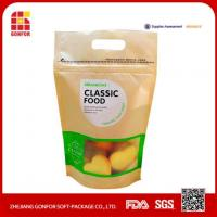 China Food Grade Kraft Paper Stand Up Zipper Whey Protein Bag With Window wholesale
