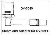 China DV-6040 Steam Arm Adapter for DV-1011 wholesale