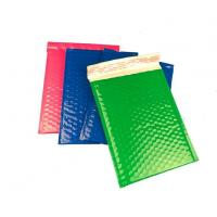 China Strong Glue Coloured Plastic Bubble Surface Shipping Mailer Easy for Writing&printing. wholesale