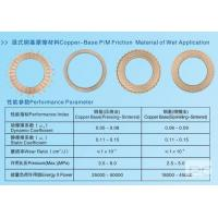 Buy cheap Copper-Base P/M Friction Material Of Wet Application from wholesalers