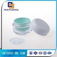 China Ungrouped Clear Green Color Empty Acrylic Jar, Containers For Cosmetics wholesale