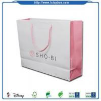 Buy cheap Colored paper printed bags with handles from wholesalers