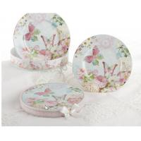 China Discount Teaware Set of 2 Porcelain Butterfly Dessert Plates in Gift Box wholesale