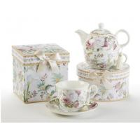 China Discount Teaware Gift Boxed Teacup and Saucer - Pale Rose wholesale