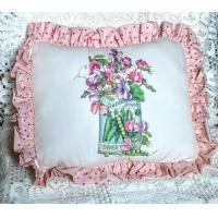China Sweet Peas Accent Pillow wholesale
