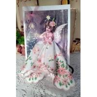 China Holiday Sale Items Christmas Angel Hankie Gift Card wholesale