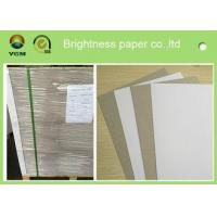 China Single Side Coated Grey Back Box Board Paper , High Brightness Board Stock Paper wholesale
