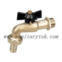 China Code: V26-002 Ball bibcock with hose connection, black T handle wholesale