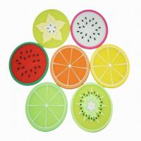 China Non-Slip Silicone Fruit Drink cup Coasters wholesale