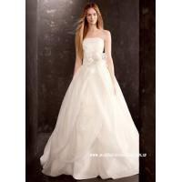 China Princess Strapless Asymmetric Folding Tulle Cathedral Train Wedding Dress wholesale