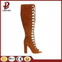 China camel mid-calf sexy mesh lace summer boots wholesale