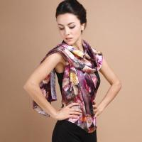 China Fancy Digital Printing Hand Rolling Silk Scarves wholesale