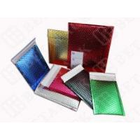 China High Gloss Bubble Wrap Mailing Envelopes , Blue / Gold Bubble Mailers wholesale