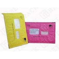Buy cheap Custom Made Recycled Kraft Bubble Mailer Green / Pink With Window from wholesalers
