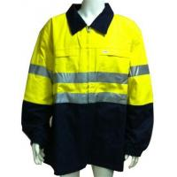 SAFETY JACKET COTTON+REF TAPE FRONT