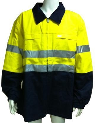 Quality SAFETY JACKET COTTON+REF TAPE FRONT for sale
