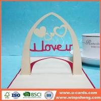 China Handmade Card I Love You Dedigns For Pop Up Cards wholesale