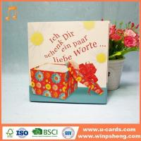 China Handmade Card Personalised Singing Birthday Cards That Play Music When Opened With Songs wholesale