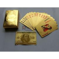 US Dollar Style Gold Foil Playing Cards