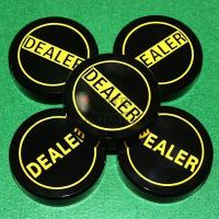 Buy cheap Black Acrylic Dealer Button from wholesalers