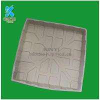 China Hot selling yellow paper pulp biodegradable plant nursery pots tray wholesale