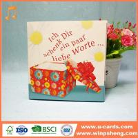 China Personalised Singing Birthday Cards That Play Music When Opened With Songs wholesale