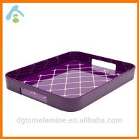 China Square Non Skid Melamine Serving Tray With Handle wholesale