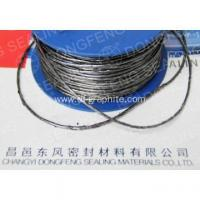 China Expanded pure graphite yarn with wire mesh on sale