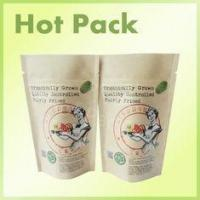 China 200g Coffee Scrub Packaging Bag Resealable Kraft Paper Pouch Foil Lined wholesale