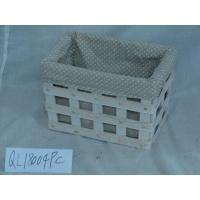 China Natural Wood Chip Laundry Hamper Home Wicker Laundry Hamper wholesale