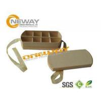 China Cardboard Gift Boxes With Lids , Round Flower Box Tin With Handle wholesale