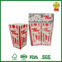 Buy cheap Stripe Colored Print Popcorn Box for Party Birthday Small Large Size from wholesalers