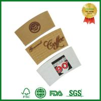 Buy cheap Custom Print Cardboard Paper Sleeve for Hot Coffee Cup with Lid and Sleeve from wholesalers