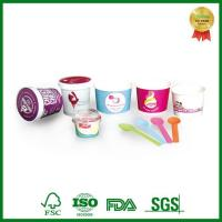 Buy cheap Eco Friendly Takeaway Paper Container with Lid for Ice Cream Packing from wholesalers