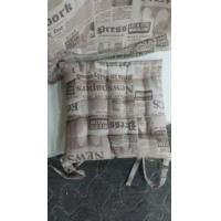 China 25 points cotton seatpad with newspaper printed wholesale