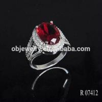 China 18K/24K Gold Plating Silver 925 Jewelry Sterling Ring /Wedding Ruby Ring wholesale