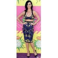 China Tropical Printed Two Piece Bandage Dress Knee Length For Girls wholesale