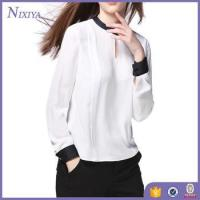Buy cheap Long Sleeve Woman Blouse Designs, Simple Design Lady Blouse from wholesalers