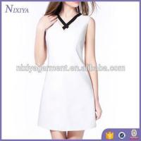 Buy cheap Pure white dress 2017 lovely design for ladies OEM and ODM service from wholesalers