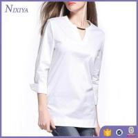 Buy cheap Fashion V-Neck women's blouses, Long Sleeve womens tops, Long Style Casual Blouse from wholesalers