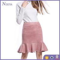 Buy cheap Pink Suede Mini Skirt, Ladies Short Skirt Designs Wholesale, Lady Skirt from wholesalers
