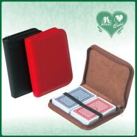 China PU Leather velvet lining Zipper Case With Double Decks of Playing Cards (M228B / M228P) wholesale